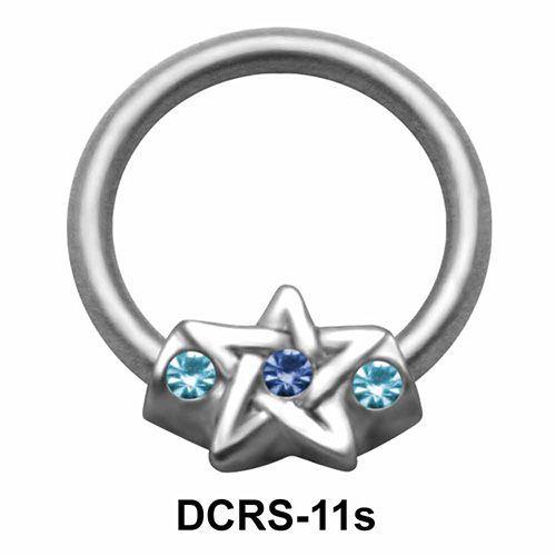 Star Nipple Piercing Closure Ring DCRS-11