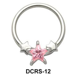 Stars Nipple Piercing Closure Ring DCRS-12