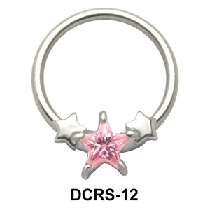 Stars Nipple Piercing Closure Ring DCRS-12
