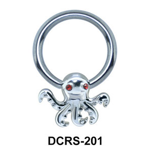 Octopus Shaped Nipple Piercing Closure Ring DCRS-201