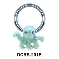 Enameled Nipple Piercing Closure Ring DCRS-201E