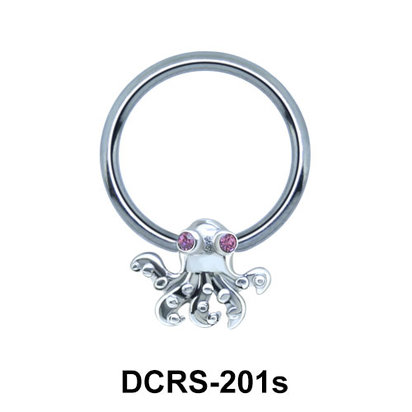 Octopus Shaped Face Piercing Closure Ring DCRS-201s