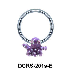 Octopus Shaped Face Piercing Closure Ring DCRS-201sE
