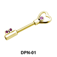 Heart Lock Double Nipple Piercing DPN-01