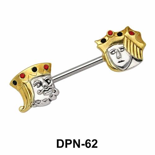 King & Joker Double Nipple Piercing DPN-62