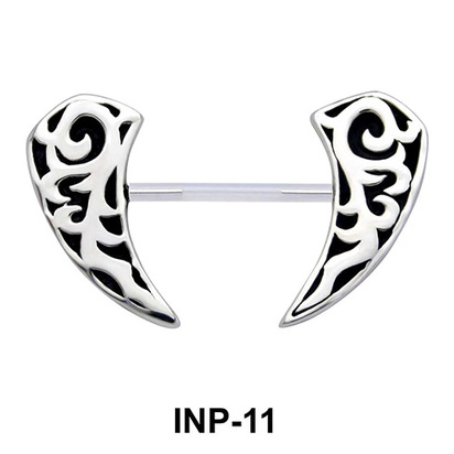 Canine Shaped Invisible Nipple Piercing INP-11