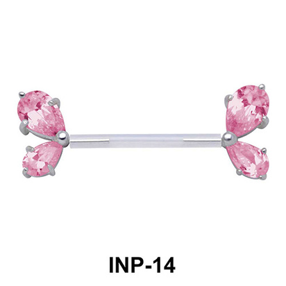 Crystal Wing Invisible Nipple Piercing INP-14