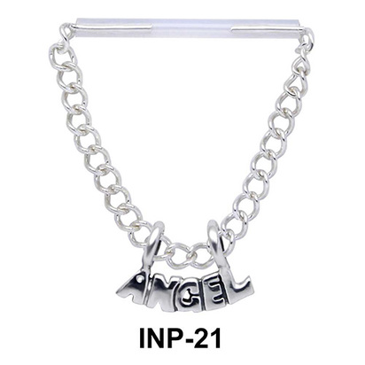 Chain Dangling Angle Invisible Nipple Piercing INP-21