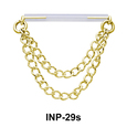Double Chain Invisible Nipple Piercing INP-29s