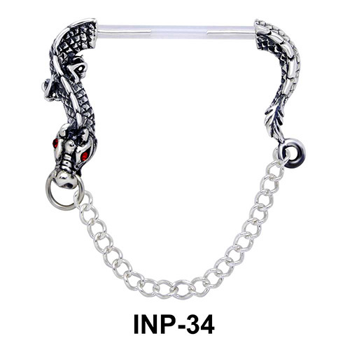 Amusing Dragon Invisible Nipple Piercing INP-34