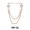 Double Chains Invisible Nipple Piercing INP-39