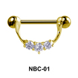 Stone Set Necklace Nipple Piercing NBC-01