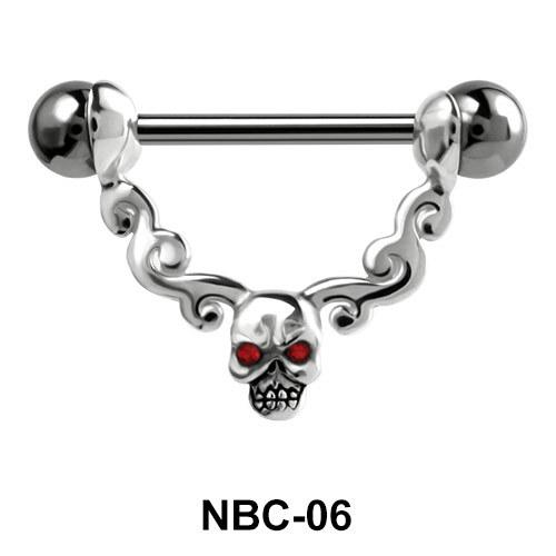 Skull Design Nipple Piercing NBC-06