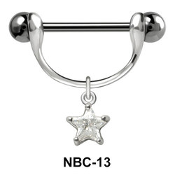 Star Shaped Nipple Piercing NBC-13