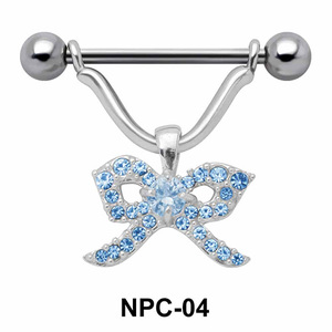 Stone Ribbon Nipple Piercing NPC-04