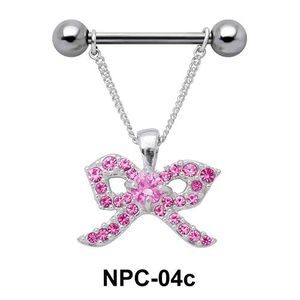 Shiny Ribbon Nipple Piercing NPC-04c