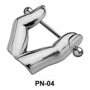 Fingers Shaped Nipple Piercing PN-04