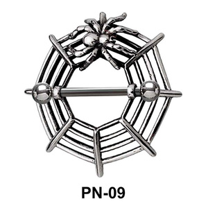 Spider Web Nipple Piercing PN-09