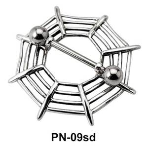 Web Shaped Nipple Piercing PN-09sd