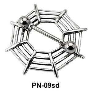 Web Shaped Nipple Piercing PN-09sd