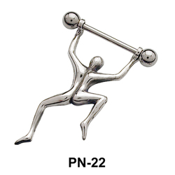 Dancing Man Shaped Nipple Piercing PN-22