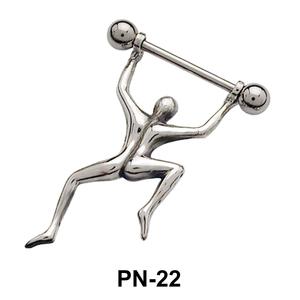 Dancing Man Shaped Nipple Piercing PN-22