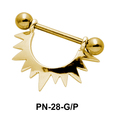 Sunrays Shaped Nipple Piercing PN-28
