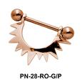 Sunrays Shaped Nipple Piercing PN-28