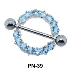 Stone Ring Shaped Nipple Piercing PN-39