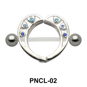 Heart Shaped Nipple Piercing PNCL-02