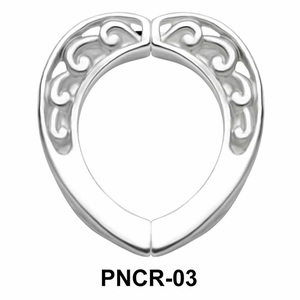 Plain Carving Heart Nipple Clip PNCR-03