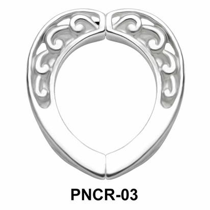 Plain Carving Heart Nipple Clip PNCR-03
