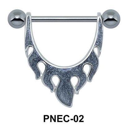 Fiery Shaped Nipple Piercing PNEC-02