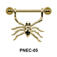 Spider Shaped Nipple Piercing PNEC-05