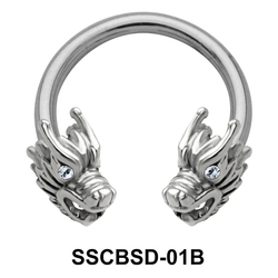 Dragon Nipple Circular Barbell SSCBSD-01B