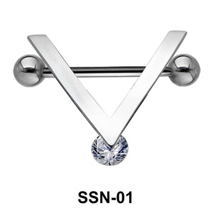 V Shaped Nipple Piercing SSN-01