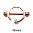 Circle Shaped Nipple Piercing SSN-02