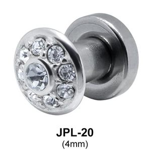 Round Rhinestone Plugs and Tunnels JPL-20