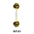 Rose Shaped S316L Intimate Piercing INT-01