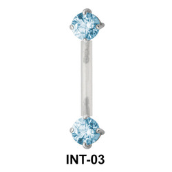 Round Shaped CZ Intimate Piercing INT-03
