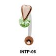 CZ Heart S316L Intimate Piercing INTP-06