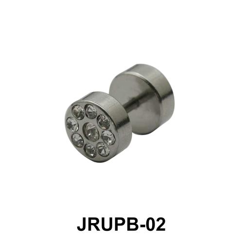 Stone Encrusted Fake Plug JRUPB-02