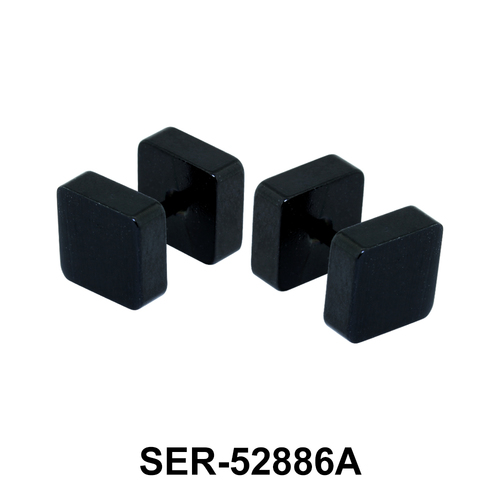 Black Enameled Square Fake Plug SER-52886A