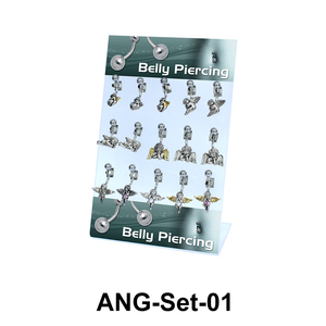 15 Angle Belly Piercing Set ANG-Set-01
