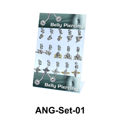15 Angle Belly Piercing Set ANG-Set-01