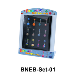 12 Enamel Belly Piercing Set BNEB-Set-01