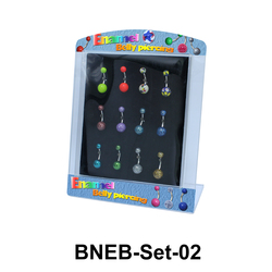 12 Enamel Belly Piercing Set BNEB-Set-02