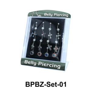 12 Belly Piercing Set BPBZ-Set-01