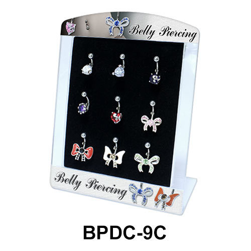 Empty Display 9 Clips for Belly Piercing  BPDC-09C