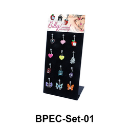 12 Belly Piercing Set BPEC-Set-01